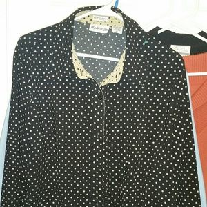 Women's button down stretch size lg non smoking ho